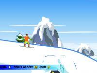 Snowboard Fahrt vom Berg